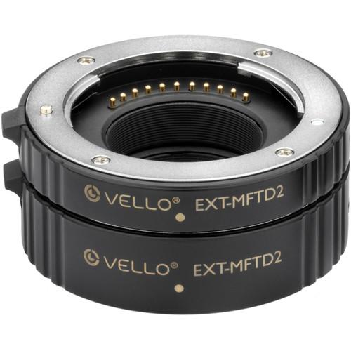 Vello EXT-MFTD2 Auto Extension Tube Set for Micro 4/3 Mounts and Lenses