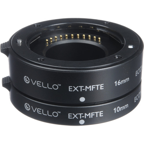 Vello Econo Auto Focus Extension Tube Set for Micro Four Thirds Mount