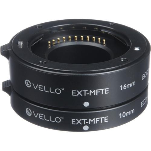 Vello Econo Auto Focus Extension Tube Set for Micro Four Thirds Mount
