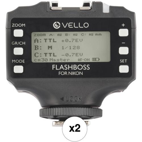 Vello FlashBoss TTL 2-Transceiver Kit for Nikon