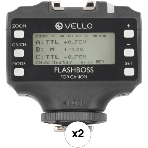 Vello FlashBoss TTL 2-Transceiver Kit for Canon