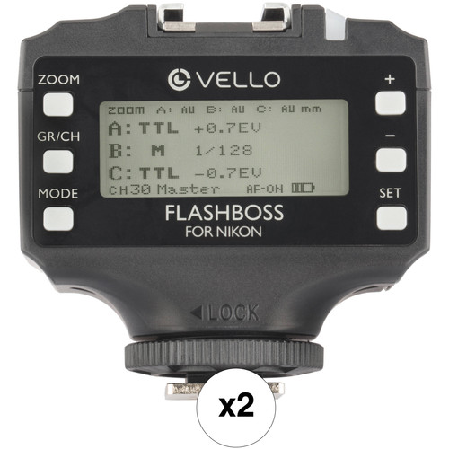 Vello FlashBoss TTL 2-Transceiver Kit for Nikon