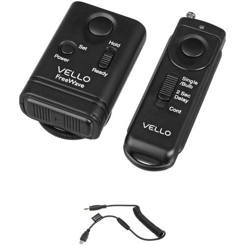 Vello FreeWave Remote Shutter Release Kit for Select Nikon & Fuji Cameras