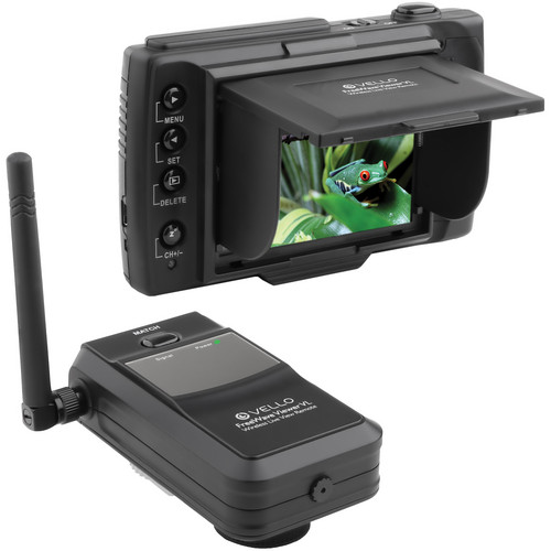 Vello FreeWave Viewer VL Wireless Live View Remote Kit with AV/Shutter & Infrared Cables for Canon 5D Mark II