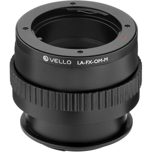 Vello Olympus OM Lens to Fujifilm X-Mount Camera Lens Adapter with Macro