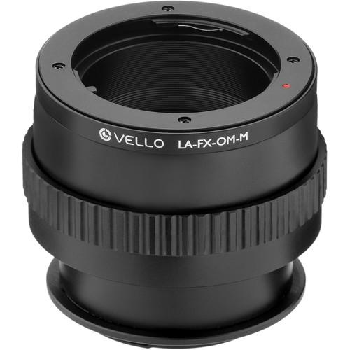 Vello Olympus OM Lens to Fujifilm X-Mount Camera Lens Adapter with Macro