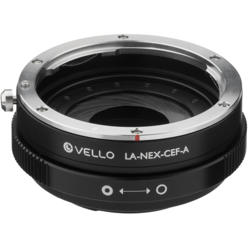 Vello Canon EF/EF-S Lens to Sony E-Mount Camera Lens Adapter with Aperture Control