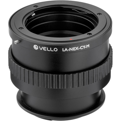 Vello Contax/Yashica Lens to Sony E-Mount Camera Lens Adapter with Macro