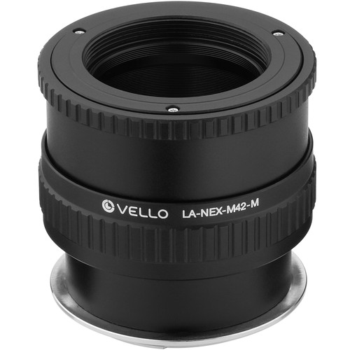 Vello M42 Lens to Sony E-Mount Camera Lens Adapter with Macro