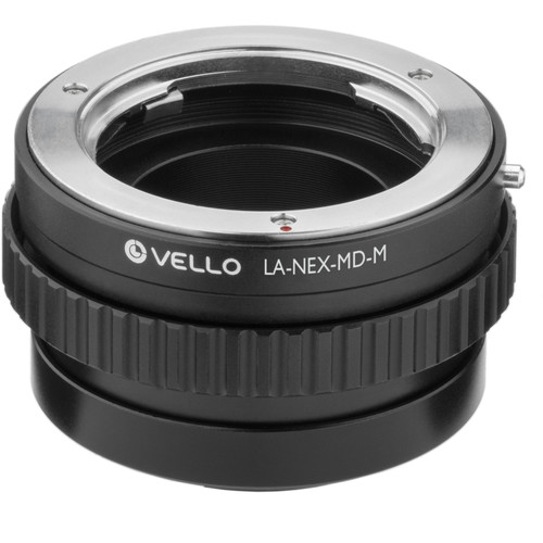 Vello Minolta MD Lens to Sony E-Mount Camera Lens Adapter with Macro