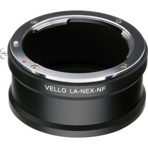 Vello Nikon F Lens to Sony E-Mount Camera Lens Adapter