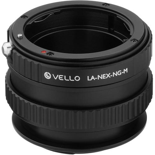 Vello Nikon F-Mount G Lens to Sony E-Mount Camera Lens Adapter with Macro