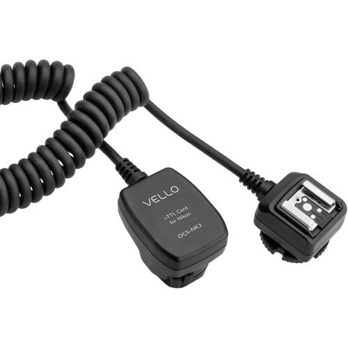 Vello Off-Camera TTL Flash Cord for Nikon Cameras (3')