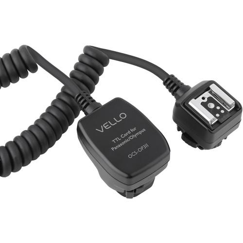 Vello Off-Camera TTL Flash Cord for Olympus/Panasonic Cameras (3')