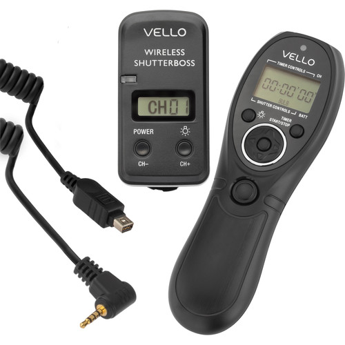 Vello Wireless ShutterBoss III Remote Switch with Digital Timer for Select Olympus and Panasonic Cameras