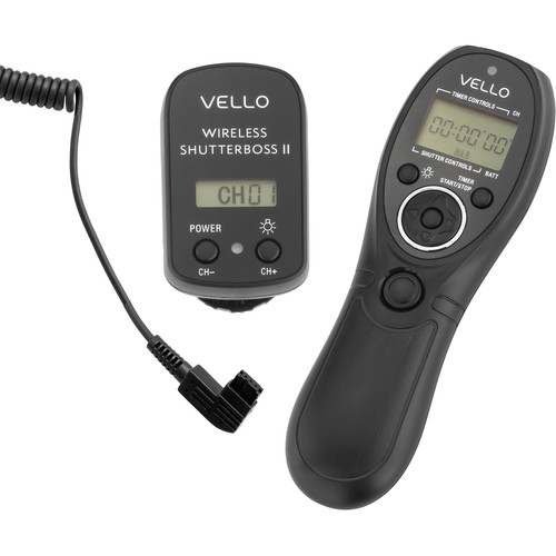 Vello Wireless ShutterBoss II Remote Switch with Digital Timer for Select Sony/Minolta Cameras