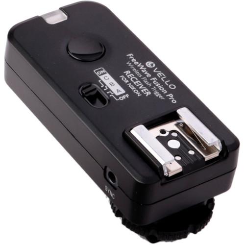 Vello FreeWave Fusion Pro Wireless Flash Receiver / Remote Control for Nikon DSLRs