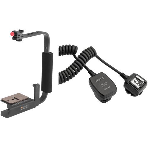 Vello Speedy Camera Rotating Flash Bracket with TTL Off-Camera Flash Cord for Nikon Cameras (1.5') Kit