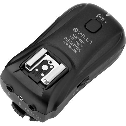 Vello FreeWave Captain Wireless TTL Receiver for Nikon i-TTL Cameras