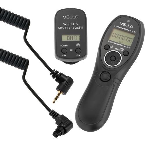 Vello Wireless ShutterBoss II Remote Switch with Digital Timer for Canon & Fujifilm Cameras Kit