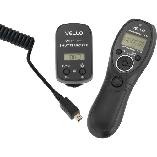 Vello Wireless ShutterBoss II Remote Switch with Digital Timer for Olympus Cameras Kit