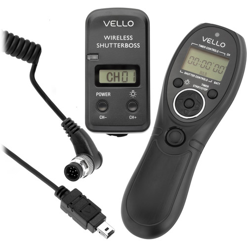 Vello Wireless ShutterBoss III with Release Cable for Nikon D70S and D80 Kit