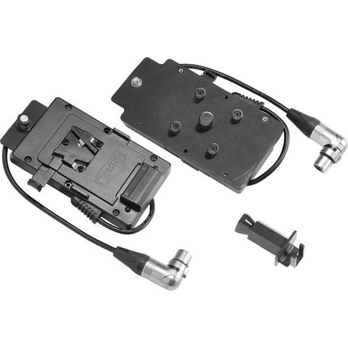 VELVETlight Battery Plate for MINI 1 LED Light (V-Mount to Right-Angled XLR3)
