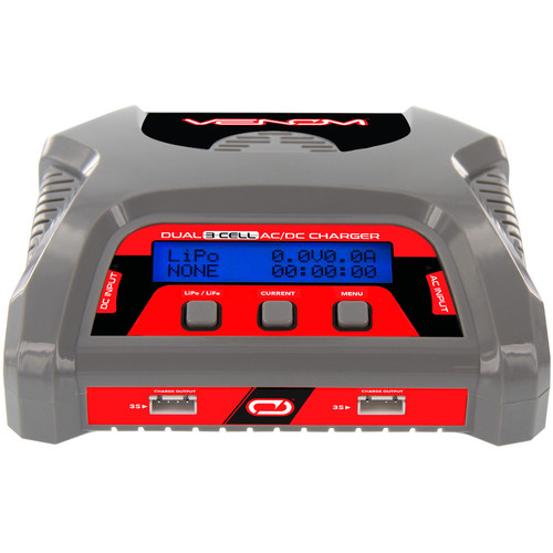 Venom Group 50W Dual Output AC/DC 6A Balance Charger for 3S X2 LiPo and LiFe RC Batteries