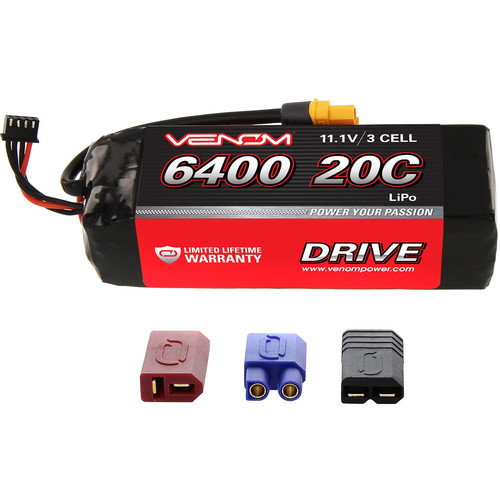 Venom Group Venom 20C 3S 6400mAh 11.1V Lipo Battery With Universal Plug System