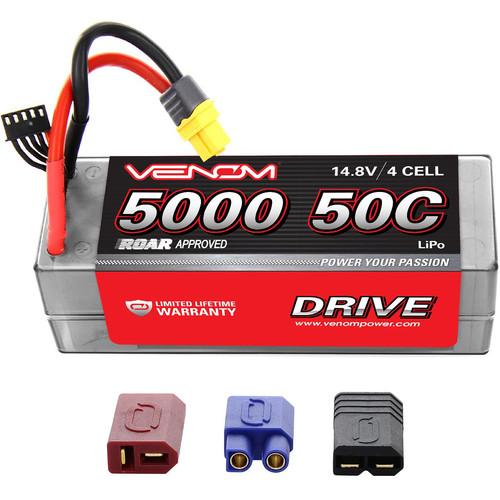 Venom Group Venom 50C 4S 5000mAh 14.8V Hard Case Rc Lipo Battery Roar Approved With Uni Plug
