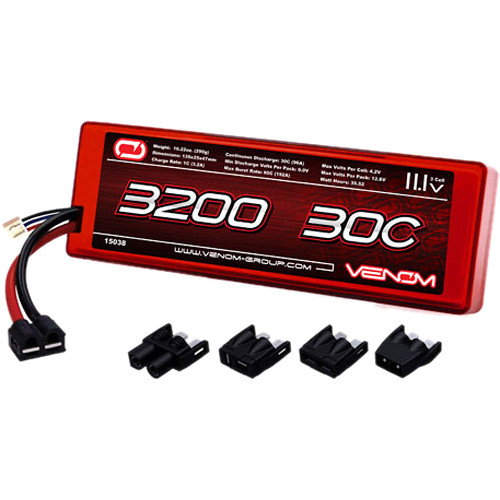 Venom Group Venom 30C 3S 3200mAh 11.1V Hard Case Lipo Battery Roar Approved With Uni Plug