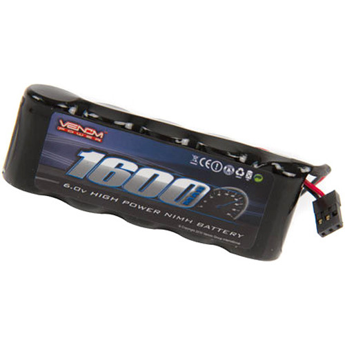 Venom Group Venom 6V 1600mAh 5-Cell Flat Receiver NiMH Battery