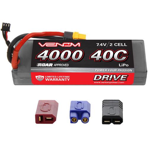 Venom Group Venom Sport Power 40C 2S 4000mAh 7.4V Lipo Battery Roar Approved With Uni Plug