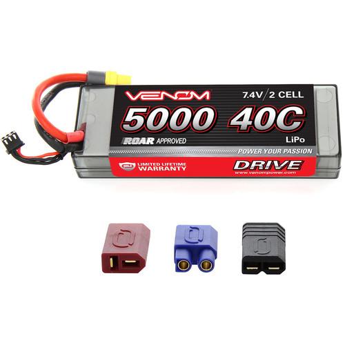 Venom Group Venom Sport Power 40C 2S 5000mAh 7.4V Lipo Battery Roar Approved With Uni Plug