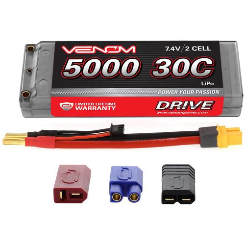 Venom Group Venom 30C 2S 5000mAh 7.4V Hard Case Lipo Battery Roar Approved With Uni Plug