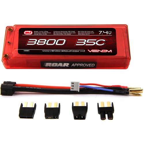 Venom Group 35C 2S 3800mAh 7.4V Hard Case LiPo Battery ROAR Approved with UNI Plug