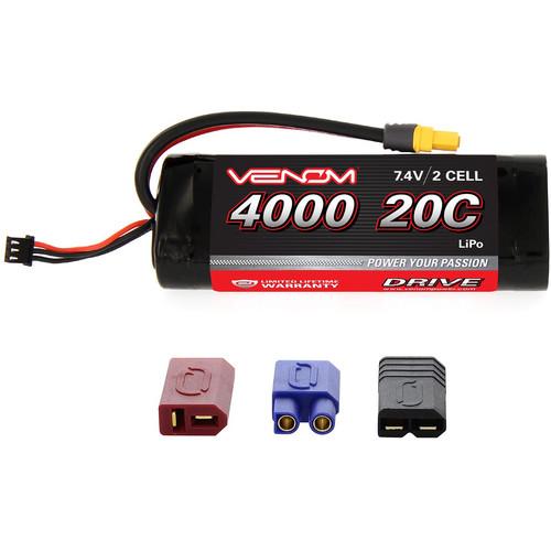 Venom Group Venom 20C 2S 4000mAh 7.4V Lipo Battery For Tamiya Cars