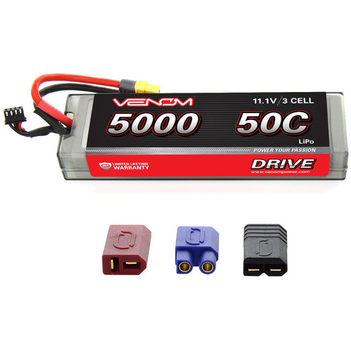 Venom Group Venom 50C 3S 5000mAh 11.1V Lipo Battery With Universal Plug System
