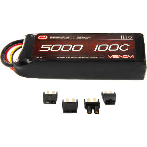 Venom Group Venom 100C 3S 5000mAh 11.1V Lipo Battery With Uni Plug