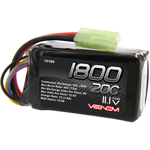 Venom Group 11.1V 1800mAh LiPo Battery with Mini Tamiya Connector for Parrot AR Drone