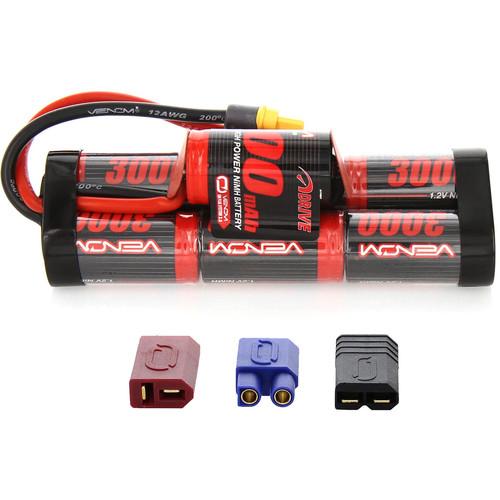 Venom Group Venom 8.4V 3000mAh 7 Cell Hump Pack NiMH Battery With Universal Plug System
