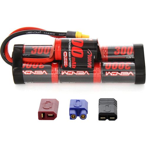 Venom Group Venom DRIVE Series 8.4V 3000mAh 7-Cell Hump Pack NiMH Battery with Interchangeable Plugs