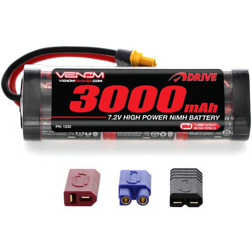 Venom Group Venom 7.2V 3000mAh 6 Cell NiMH Battery With Universal Plug System