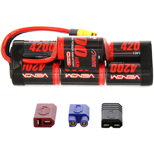 Venom Group Venom 8.4V 4200mAh 7 Cell Hump Pack NiMH Battery With Universal Plug System