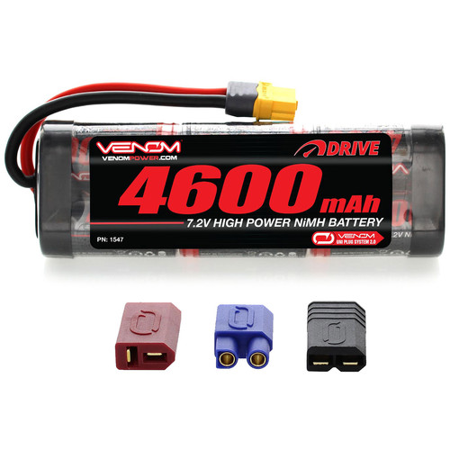 Venom Group Venom 7.2V 4600mAh 6 Cell NiMH Battery With Universal Plug System
