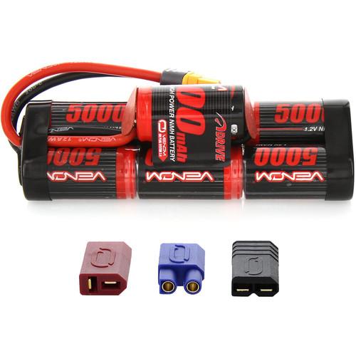 Venom Group Venom 8.4V 5000mAh 7 Cell Hump Pack NiMH Battery With Universal Plug System