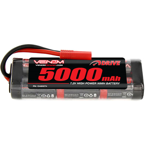 Venom Group Venom 7.2V 5000mAh 6 Cell NiMH Battery With Hxt 4.0Mm Plug