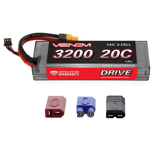 Venom Group Venom 20C 2S 3200mAh 7.4V Hard Case Lipo Battery With Universal Plug System