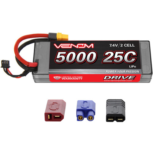 Venom Group Venom 25C 2S 5000mAh 7.4V Hard Case Lipo Battery With Universal Plug System