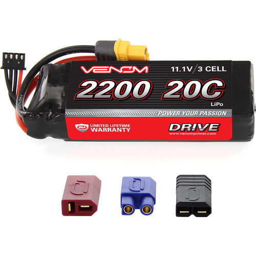 Venom Group 11.1V 2100mAh LiPo Battery with Interchangeable Connectors